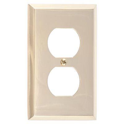 Quaker Single Outlet Plate Finish: Polished Brass