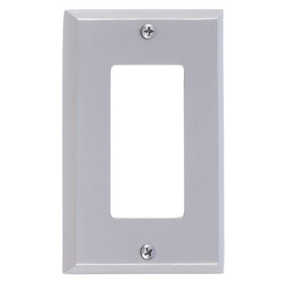 Quaker Single GFCI Plate Finish: Satin Nickel
