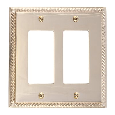 Georgian Double GFCI Plate Finish: Polished Brass