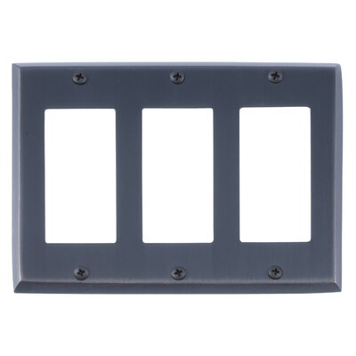 Quaker Triple GFCI Plate Finish: Venetian Bronze