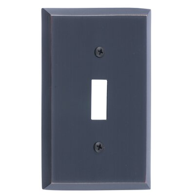Quaker Single Switch Plate Finish: Venetian Bronze