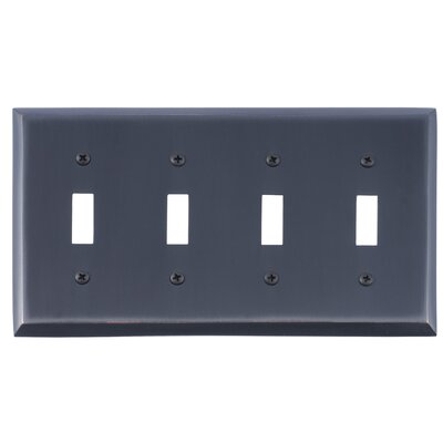 Quaker Quad Switch Plate Finish: Venetian Bronze