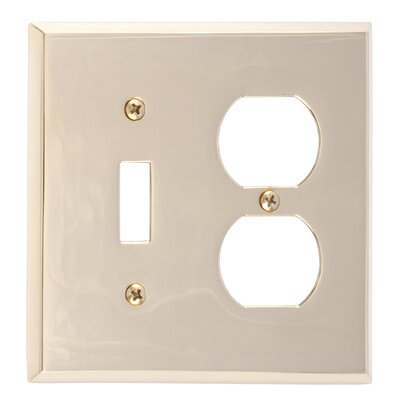 Quaker Outlet Plate Finish: Polished Brass