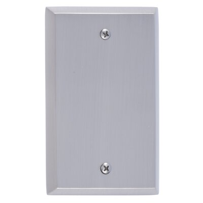 Quaker Single Blank Plate Finish: Satin Nickel