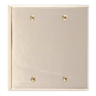 Quaker Double Blank Plate Finish: Polished Brass