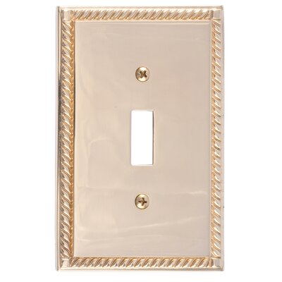 Georgian Single Switch Plate Finish: Polished Brass