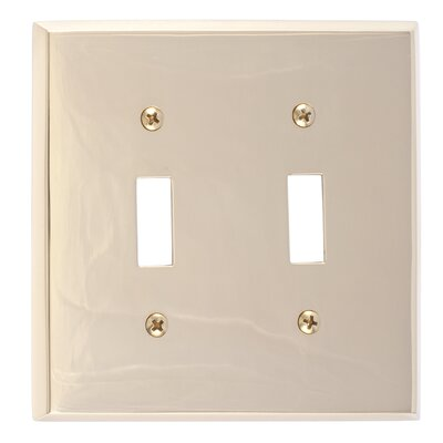 Quaker Double Switch Plate Finish: Polished Brass