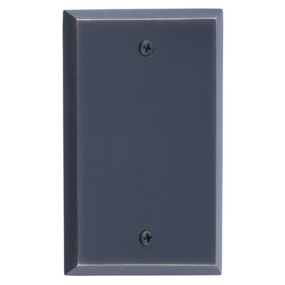 Quaker Single Blank Plate Finish: Venetian Bronze