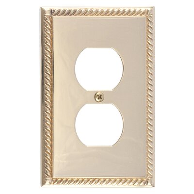Georgian Single Outlet Plate Finish: Polished Brass