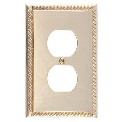 Georgian Single Outlet Plate Finish: Polished Brass