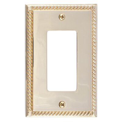 Georgian Single GFCI Plate Finish: Polished Brass