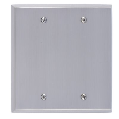 Quaker Double Blank Plate Finish: Satin Nickel