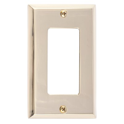 Quaker Single GFCI Plate Finish: Polished Brass
