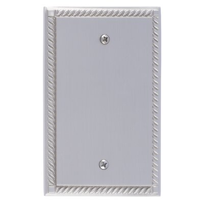Georgian Single Blank Plate Finish: Satin Nickel