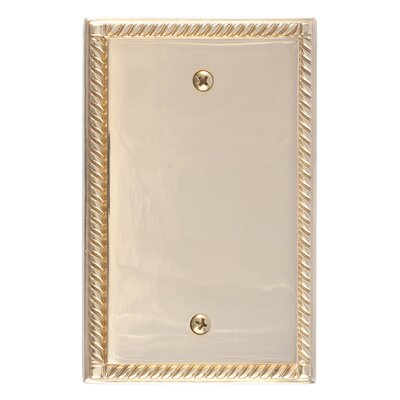 Georgian Single Blank Plate Finish: Polished Brass