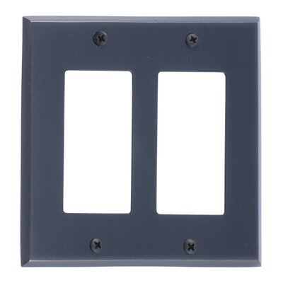 Quaker Double GFCI Plate Finish: Venetian Bronze