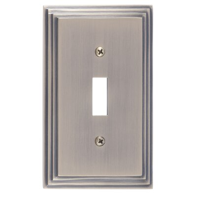 Classic Steps Single Switch Plate Finish: Antique Brass