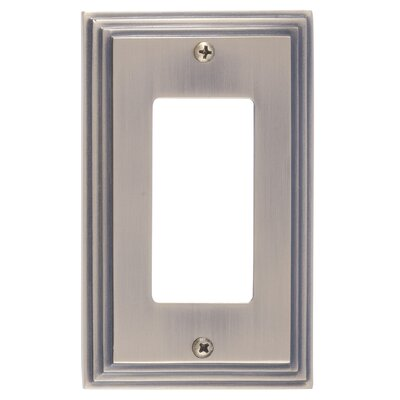 Classic Steps Single GFCI Plate Finish: Antique Brass