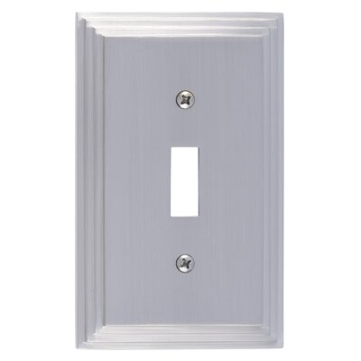 Classic Steps Single Switch Plate Finish: Satin Nickel