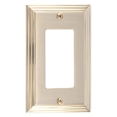 Classic Steps Single GFCI Plate Finish: Polished Brass