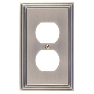 Classic Steps Single Outlet Plate Finish: Antique Brass
