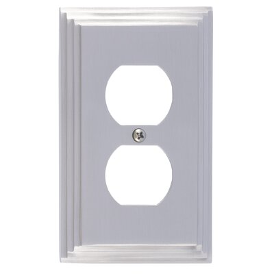 Classic Steps Single Outlet Plate Finish: Satin Nickel