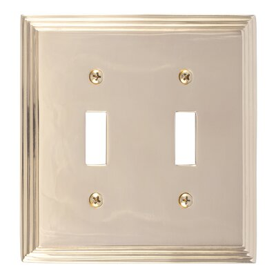 Classic Steps Double Switch Plate Finish: Polished Brass