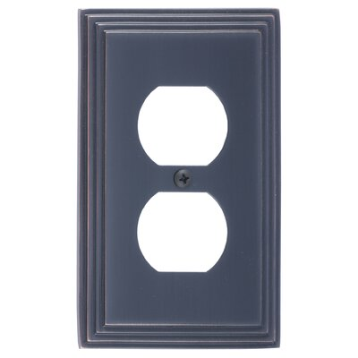 Classic Steps Single Outlet Plate Finish: Venetian Bronze