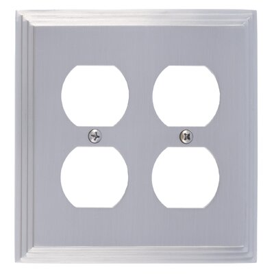 Classic Steps Double Outlet Plate Finish: Satin Nickel