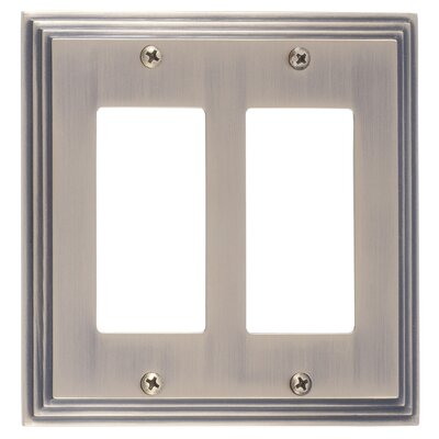 Classic Steps Double GFCI Plate Finish: Antique Brass
