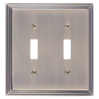 Classic Steps Double Switch Plate Finish: Antique Brass