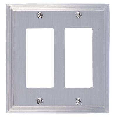 Classic Steps Double GFCI Plate Finish: Satin Nickel