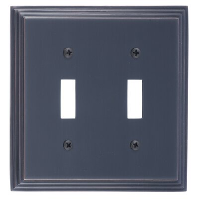 Classic Steps Double Switch Plate Finish: Venetian Bronze
