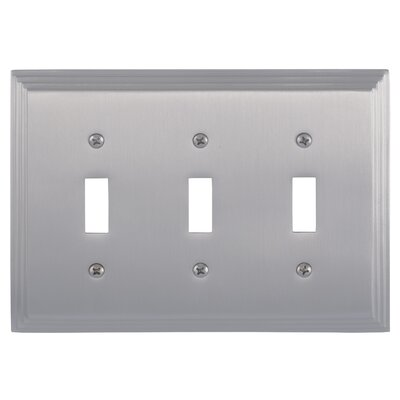 Classic Steps Triple Switch Plate Finish: Satin Nickel