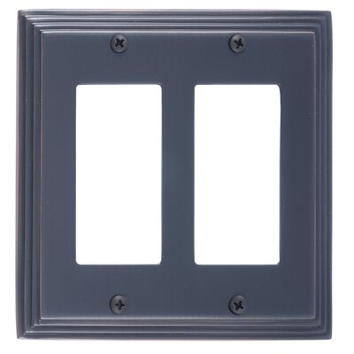 Classic Steps Double GFCI Plate Finish: Venetian Bronze