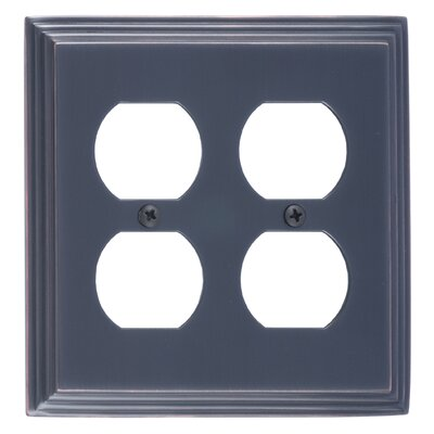 Classic Steps Double Outlet Plate Finish: Venetian Bronze