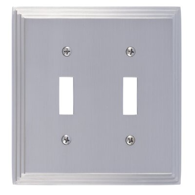 Classic Steps Double Switch Plate Finish: Satin Nickel