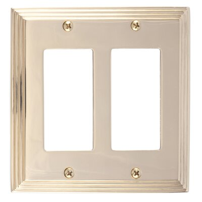 Classic Steps Double GFCI Plate Finish: Polished Brass