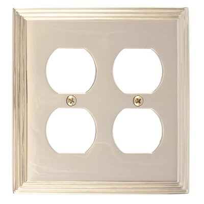 Classic Steps Double Outlet Plate Finish: Polished Brass