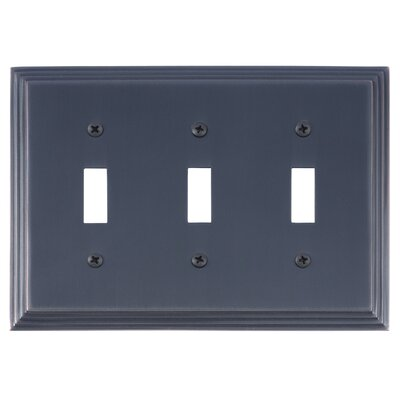 Classic Steps Triple Switch Plate Finish: Venetian Bronze