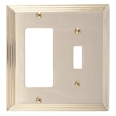 Classic Steps GFCI Plate Finish: Polished Brass