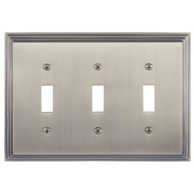 Classic Steps Triple Switch Plate Finish: Antique Brass