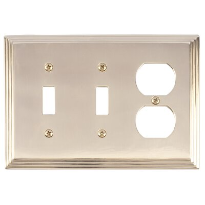 Classic Steps Triple Outlet Plate Finish: Polished Brass