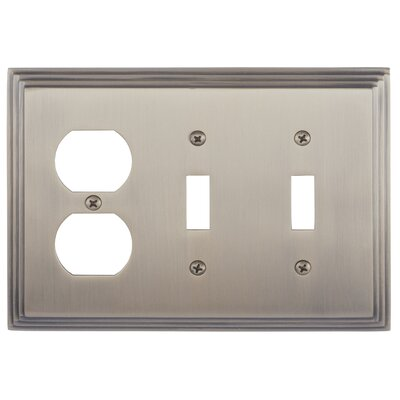 Classic Steps Triple Outlet Plate Finish: Antique Brass