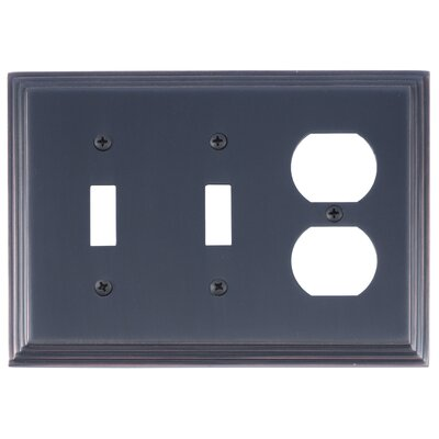 Classic Steps Triple Outlet Plate Finish: Venetian Bronze