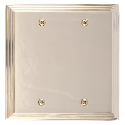 Classic Steps Double Blank Plate Finish: Polished Brass