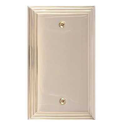 Classic Steps Single Blank Plate Finish: Polished Brass