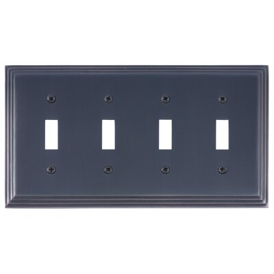 Classic Steps Quad Switch Plate Finish: Venetian Bronze