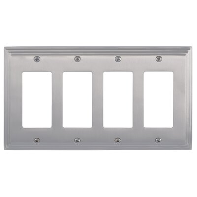 Classic Steps Quad GFCI Plate Finish: Satin Nickel
