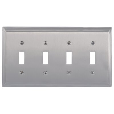 Classic Steps Quad Switch Plate Finish: Satin Nickel
